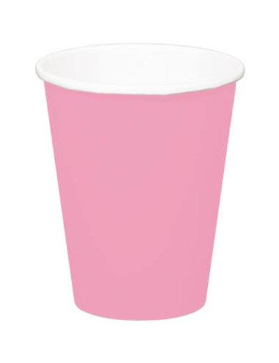 8x Baby Roze Kartonnen Weggooi Bekers
