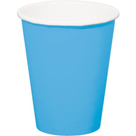 servies 8x Blauwe Kartonnen Weggooi Bekers