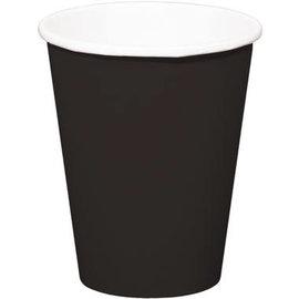 servies 8x Zwarte Kartonnen Weggooi Bekers