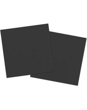 20x Zwarte Servetten