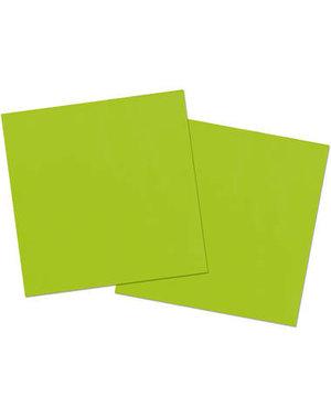 20x Groene Servetten