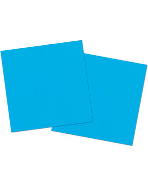 20x Blauwe Servetten