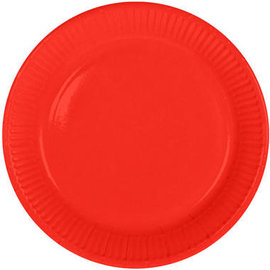 Servies 8x Rode Weggooi Bordjes
