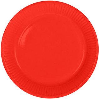 Servies 8x Rode Weggooi Bordjes Borden