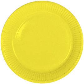 Servies 8x Gele Weggooi Bordjes