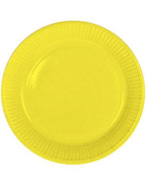 8x Gele Weggooi Bordjes