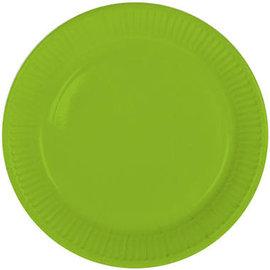 Servies 8x Groene Weggooi Bordjes