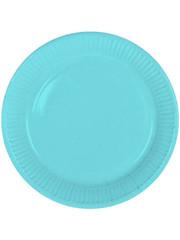 8x Baby Blauwe Weggooi Bordjes