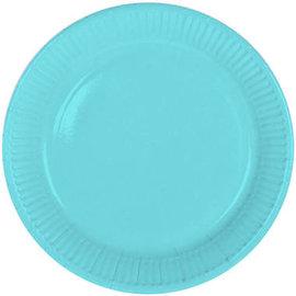 Servies 8x Baby Blauwe Weggooi Bordjes