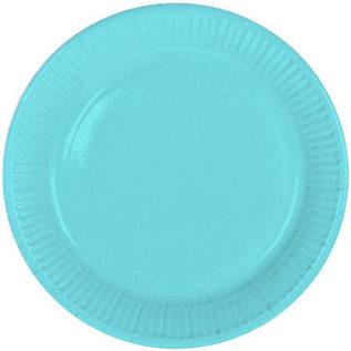 Servies 8x Baby Blauwe Weggooi Bordjes Borden