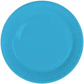Servies 8x Blauwe Weggooi Bordjes