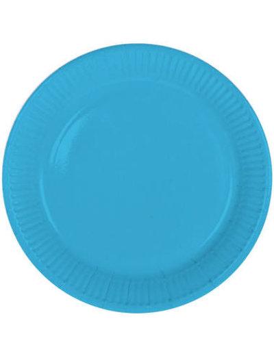 8x Blauwe Weggooi Bordjes