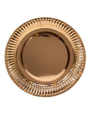 8x Rosé Gouden Weggooi Bordjes