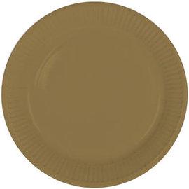 Servies 8x Gouden Weggooi Bordjes