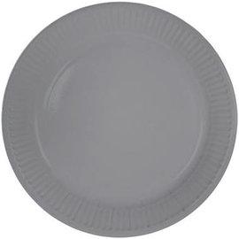 Borden 8x Zilveren Weggooi Bordjes