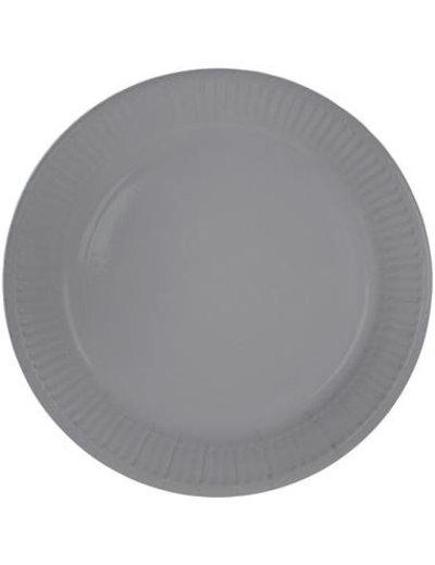 8x Zilveren Weggooi Bordjes