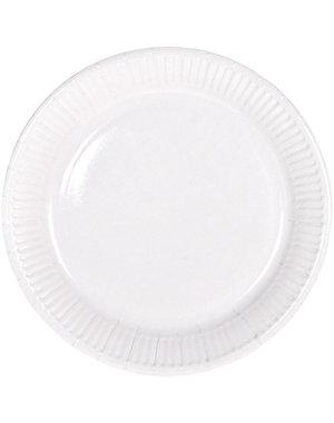 8x Witte Weggooi Bordjes
