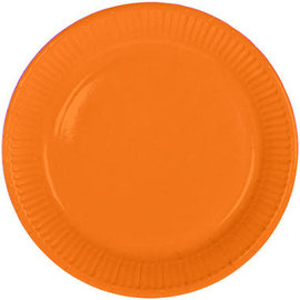 Servies 8x Oranje Weggooi Bordjes