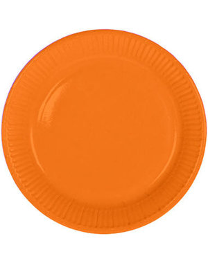 8x Oranje Weggooi Bordjes