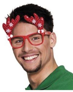 Kerst Accessoires Bril Rendier