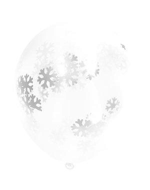 Confetti Ballonnen Sneeuwvlokken Confetti Ballonnen - 4stk