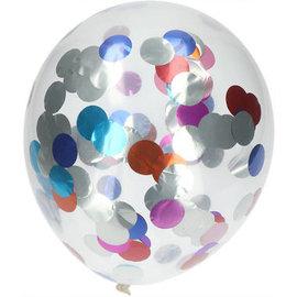 Confetti Ballonnen Meerkleurige Folie Confetti Ballonnen - 4stk