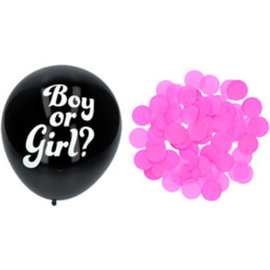 Ballonnen Latex Gender Reveal Ballon - Roze Confetti