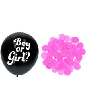 Gender Reveal Ballon - Roze Confetti