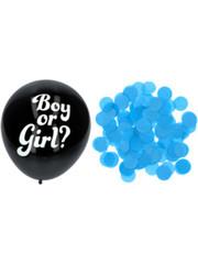 Gender Reveal Ballon - Blauwe Confetti
