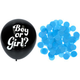Ballonnen Latex Gender Reveal Ballon - Blauwe Confetti