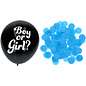 Ballonnen Latex Gender Reveal Ballon - Blauwe Confetti