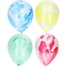 Ballonnen Latex Marmer Ballonnen - 6stk