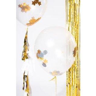Confettie Ballonnen Sterren Confetti Ballonnen met Tassel Slinger Goud - 3stk
