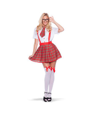 Nerd Schoolmeisje Kostuum - S/M