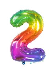 Folieballon Rainbow - Cijfer 2
