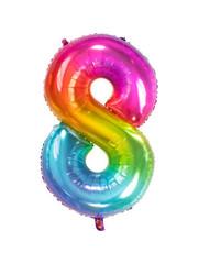 Folieballon Rainbow - Cijfer 8