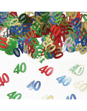 Confetti Leeftijd 40 Jaar