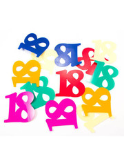 Confetti Tafelconfetti XL Cijfer 18