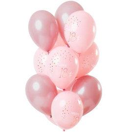Ballonnen Latex Elegant Lush Blush Ballonnen 18 t/m 80 Jaar -12stk