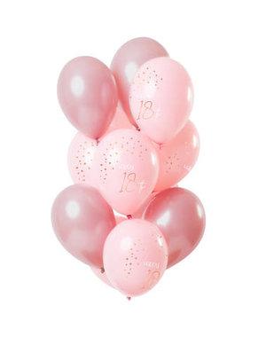 Elegant Lush Blush Ballonnen 18 t/m 80 Jaar -12stk