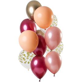 Ballonnen Latex Rich Ruby Ballonnen Set - 12 stk