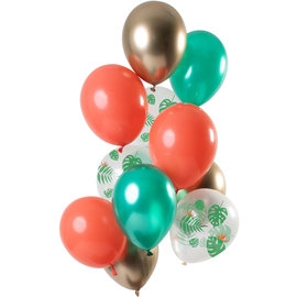 Ballonnen Latex Tropical Gem Ballonnen Set - 12 stk