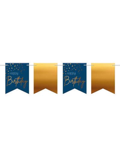 Elegant True Blue Vlaggenlijn Happy Birthday - 6m