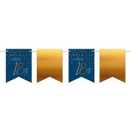 Vlaggenlijn Elegant True Blue Vlaggenlijn 18 t/m 80 Jaar - 6mtr