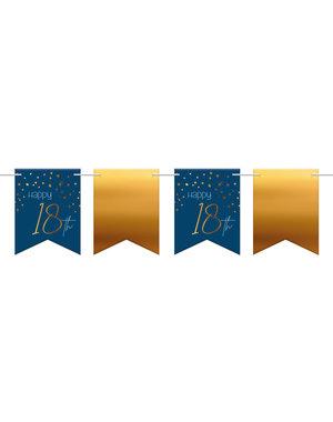 Elegant True Blue Vlaggenlijn 18 t/m 80 Jaar - 6mtr