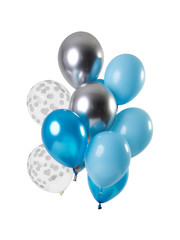 Aquamarine Ballonnen Set - 12stk