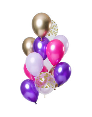 Purple Posh Ballonnen Set - 12stk