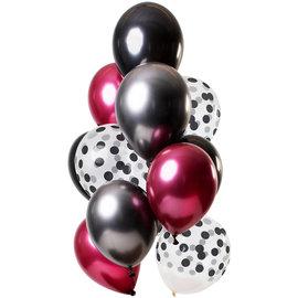 Ballonnen Latex Dark Richness Ballonnen Set - 12stk