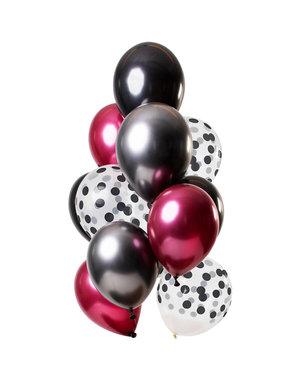 Dark Richness Ballonnen Set - 12stk