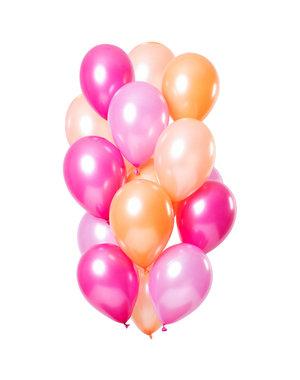 Peachy Flamingo Ballonnen Set - 15 stk